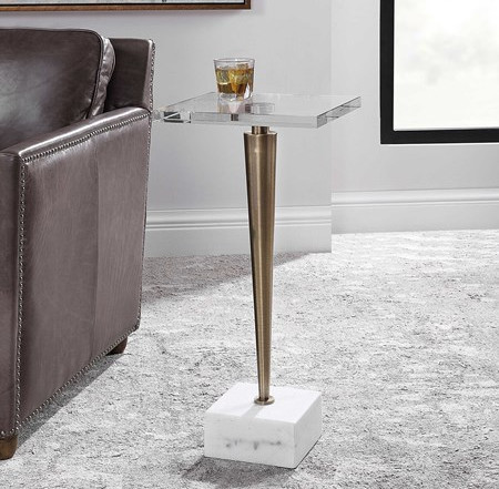 CAMPEIRO DRINK TABLE, BRASS