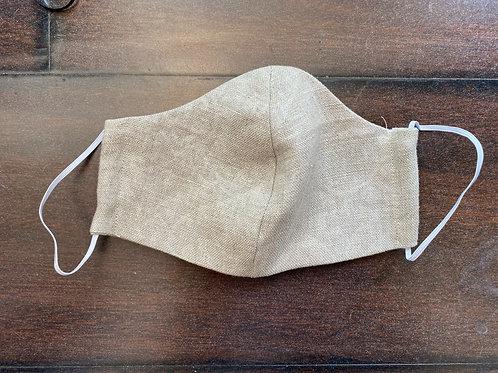 Burlap linen mask