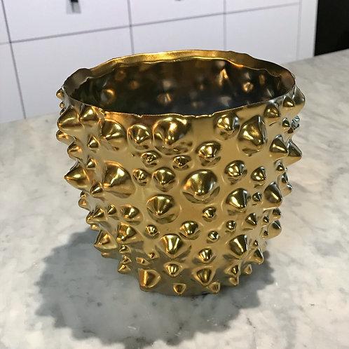 Gold Leaf candle/twinkle light holder