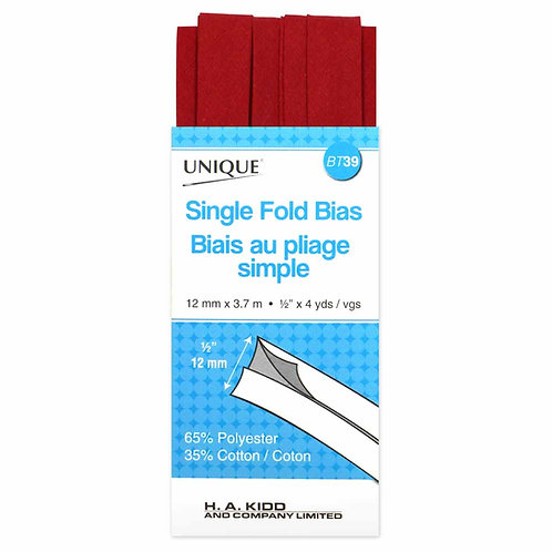 Red Single Fold Bias Tape