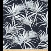 Tasteful navy/palm print-outdoor