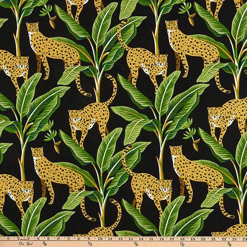 "Classic Black Cheetah - outdoor - 54"""