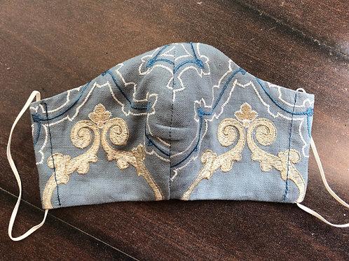 Nina Campbell Alhambra mask- Slate