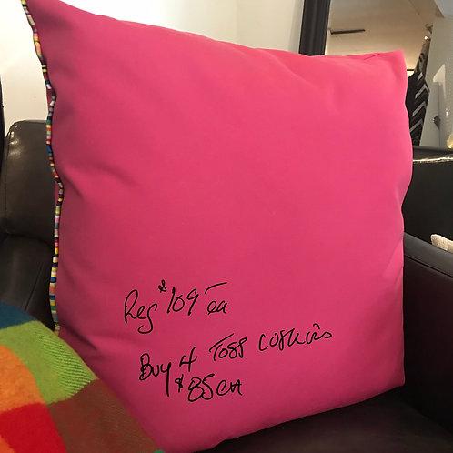 "Custom design outdoor cushions -solids - 22""x 22"""
