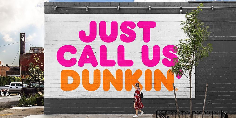 rebrand dunkin donuts