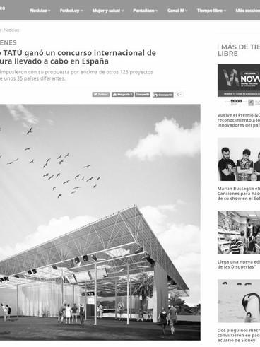El estudio TATÚ ganó un concurso internacional de arquitectura llevado a cabo en España