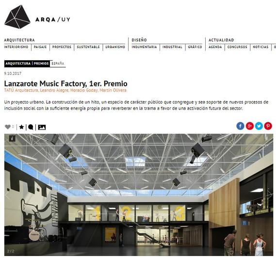 Lanzarote Music Factory, 1er. Premio