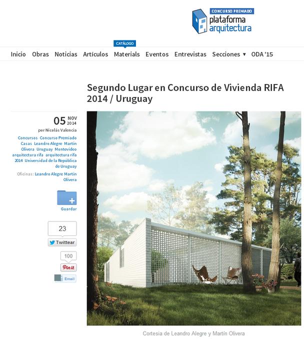 PUBLICACIÓN // Plataforma Arquitectura
