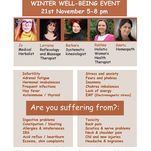 Geetu from Healing Homeopaths to attend Winter Wellbeing Event in New Southgate