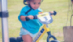 1yr old Miseha trying out the Strider 12 Sport at the GFA Harmon Field.