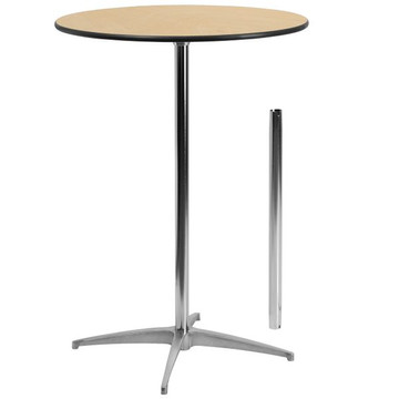 30'' Round Wood Cocktail Table with 30'' or 42'' Column (12.50 each)
