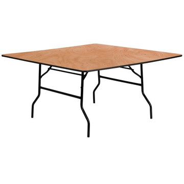 60'' Square Wood Folding Banquet Table (14.00 each)