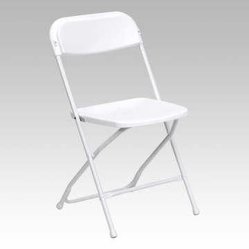 Premium White Plastic Folding Chair (1.50 each)