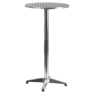 23.25'' Round Aluminum Indoor-Outdoor Folding Bar Height Table with Base (18.00 each)