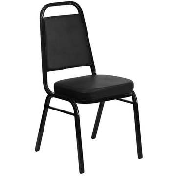 Banquet Series Padded Chair in Black Vinyl (8.50 each)