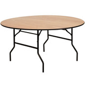 60'' Round Wood Folding Banquet Table (9.95 each)