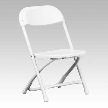 Kids' White Plastic Folding Chair (1.75)