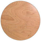 48'' Round Wood Folding Banquet Table with Clear Coated Finished Top (9.50 each)
