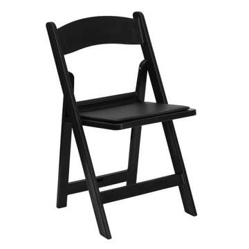 All-Occasion Black Resin Folding Chair with Vinyl Padded (1.95 each)