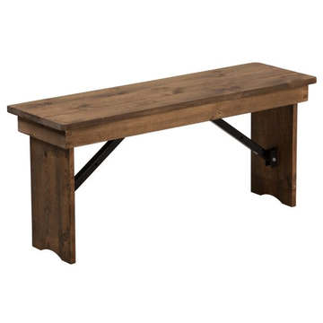 Kenwood Lancaster 40'' x 12'' Antique Rustic Solid Pine Folding Farm Bench