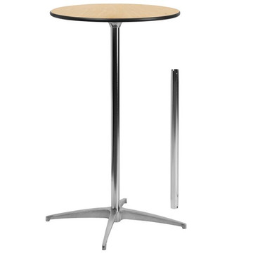 24'' Round Wood Cocktail Table with 30'' or 42'' Column (12.00 each)