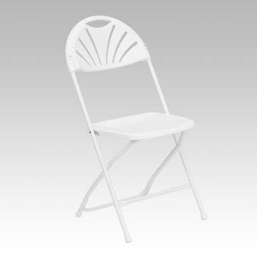 Fan Back Premium White Plastic Folding Chair (2.25 each)