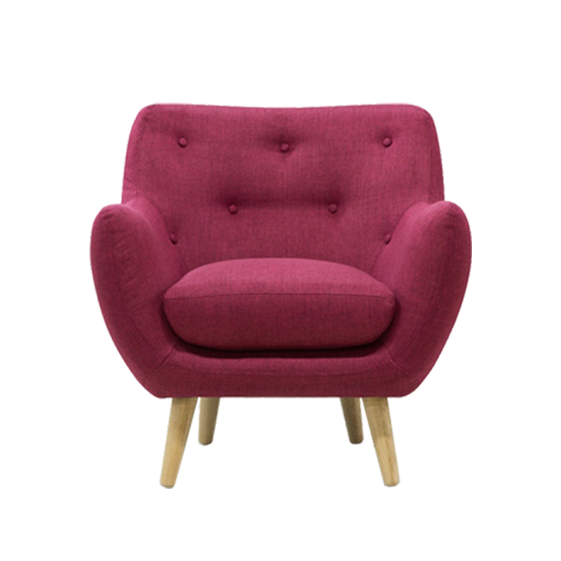 Fauteuil Lady H framboise face