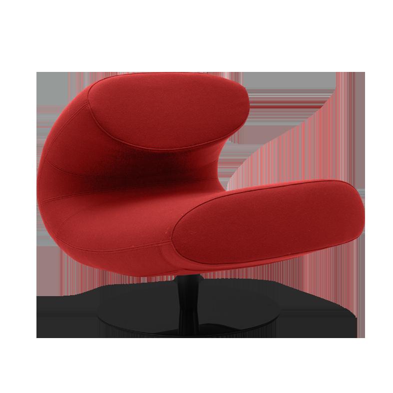 Fauteuil Rio rouge profil