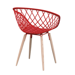 Fauteuil Arpège rouge dos