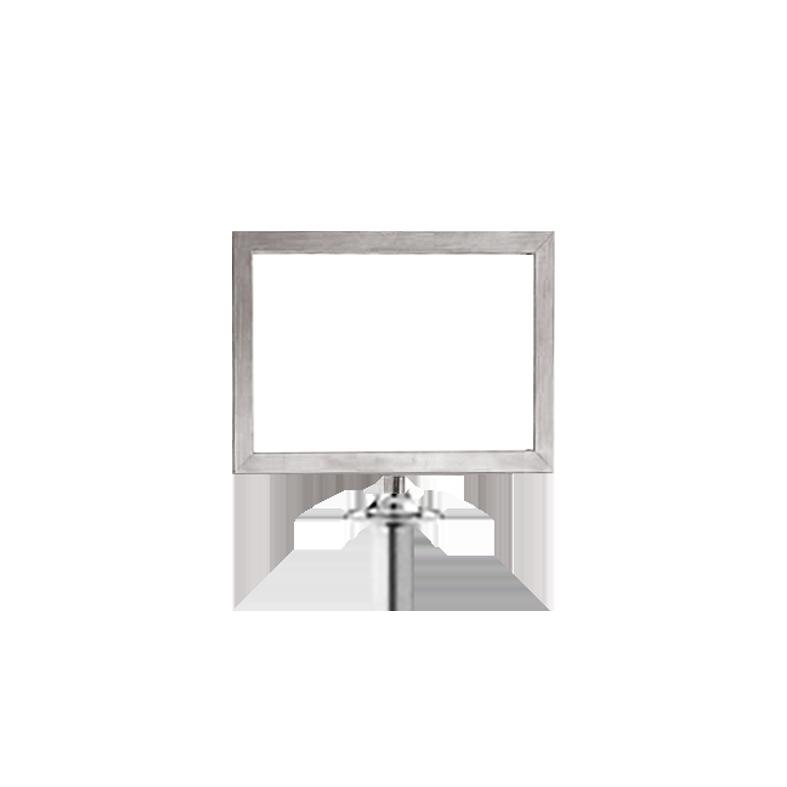 Panneau horizontal potelet chrome