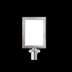 Panneau vertical potelet chrome
