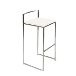 Chaise haute inox blanche