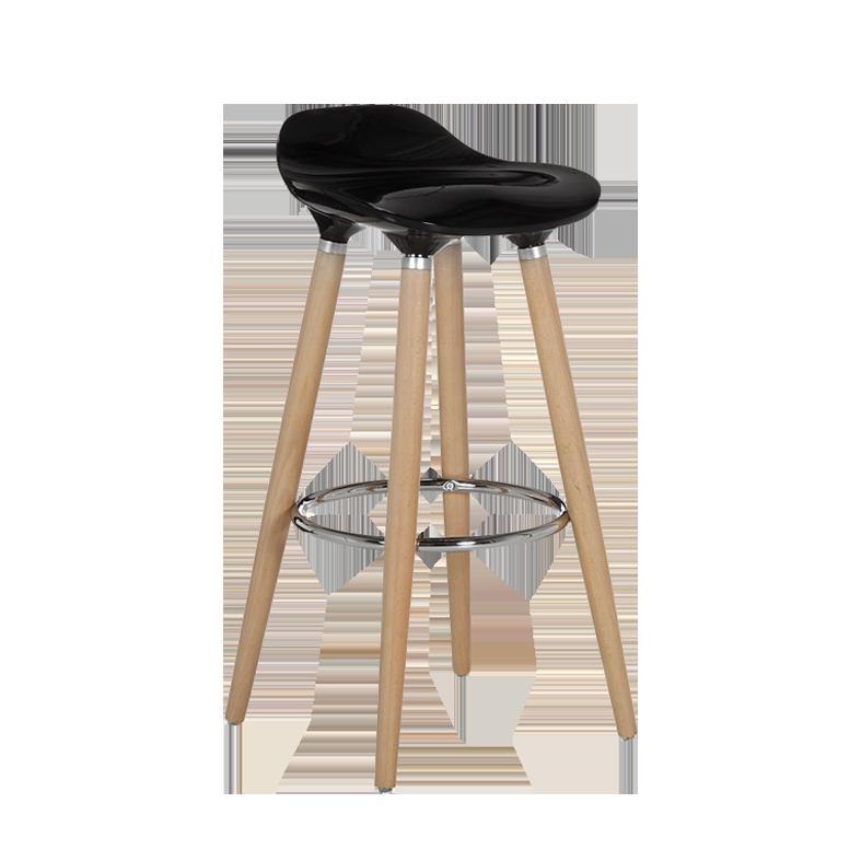 Chaise haute Riga noire