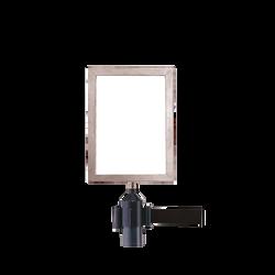 Panneau vertical potelet noir
