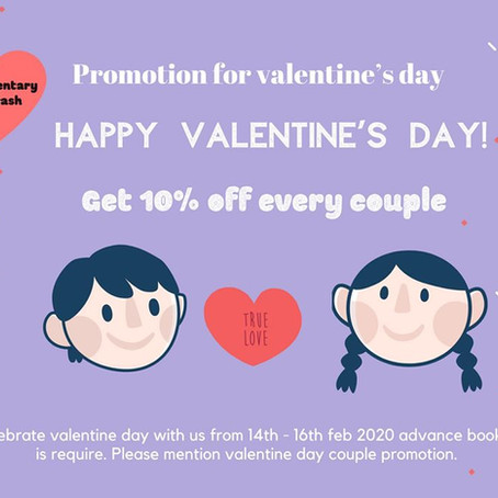 Valentine's Day promotion 14th - 16th Feb 2020