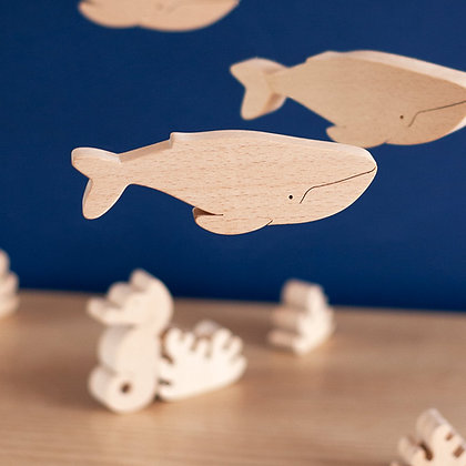 Baleine - Figurine en bois