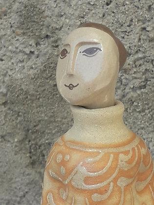 Flacon Dame moyen modèle à décor japonisant