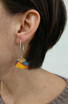 Petites Boucles d'oreilles en liège
