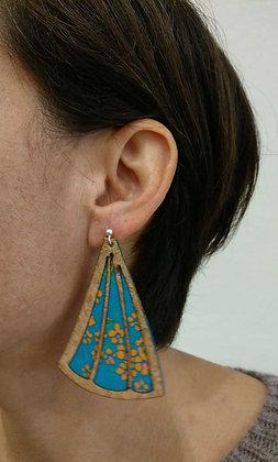 Grandes Boucles d'oreilles en liège