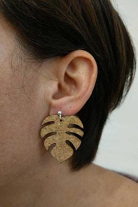 Moyennes Boucles d'oreilles en liège