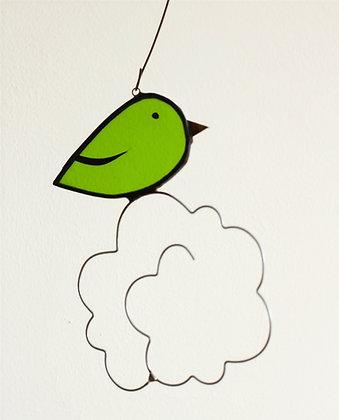 Mini oiseau nuage Vert transparent