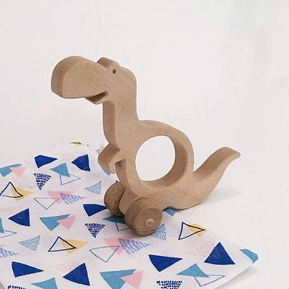 Tyméo le tyrannosaure - jouet en bois à faire rouler
