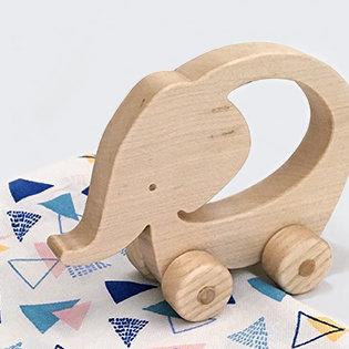 Philaé l'éléphante - jouet en bois à faire rouler