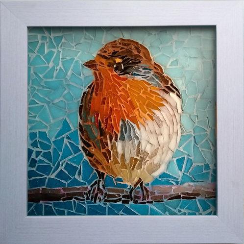 Professionally framed Robin