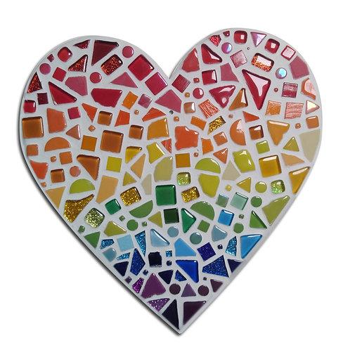 Rainbow Heart DIY Mosaic Kit