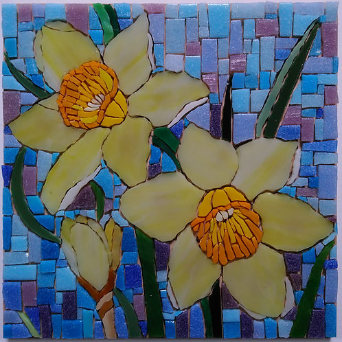 """Daffodils"" DIY Mosaic Kit"