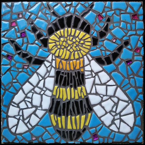 """Just Bee"" Blue Sky DIY Mosaic Kit"