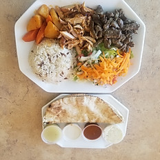 Mixed  (Beef&Chicken) Doner Plate