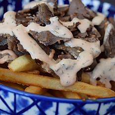 Fries Top Beef Shawarma