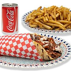 Beef Shawarma, Fries & Pop Combo